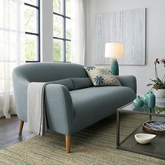 Jarvis Teal Rug    Crate and Barrel
