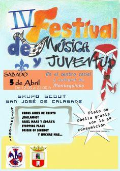 Sábado 5 de abril 'IV Festival de Música y Juventud', organizado por el Grupo Scout San José de Calasanz de Montequinto (Dos Hermanas). MÁS INFORMACIÓN: https://www.facebook.com/events/692646204107254/