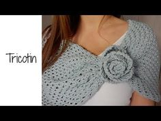 Tricotin - Poncho avec tressage / Point Echelle I Loom Knitting - YouTube