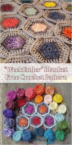 WeekEnder Blanket – Free Crochet Pattern #crochet #hexagon #weekEnder #freepattern