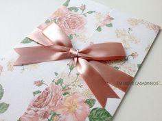 Convite Floral Peônias, convite floral, convite descontraído, convite de casamento