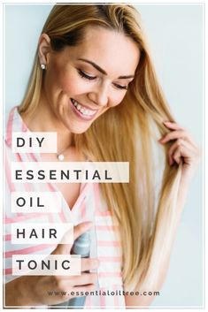 Check our essential oil hair tonic recipe that may help reduce buildup at the scalp and reduce sebum production. Natural Hair Recipes, Hair Care Recipes, Natural Hair Care Tips, Homemade Hair Spray, Homemade Shampoo Recipes, Essential Oils For Hair, Lemon Essential Oils, Organic Hair Care