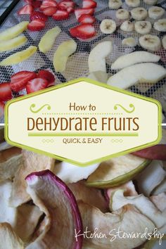Dehydrating fruit is such a great option for long term storage without filling your freezer.