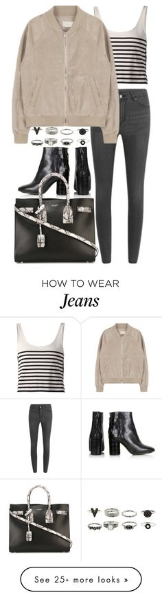 """""""Untitled #7726"""" by nikka-phillips on Polyvore featuring rag & bone, Cheap Monday, Topshop and Yves Saint Laurent"""