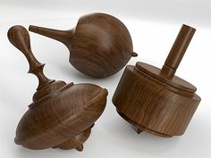 New from Herman Miller... wooden spinning tops. Inspired by Charles Eames and designed by Klein Reid, Herman Miller has made three Select Tops