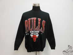 Vtg 90s Competitor Chicago Bulls Crewneck Sweatshirt sz 2XL Jordan Pippen NBA #Competitor  #tcpkickz #ChicagoBulls