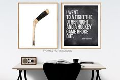This listing is for one Unframed Photo on photo paper or Stretched canvas (Ready to hang) Funny Rodney Dangerfield Quote, I went to a fight the other night and a hockey game broke out, bedroom wall art quote Please select either photo or canvas as well as the size youd like from the drop down menu Minimalist Room, Minimalist Home Decor, Home Designer, Large Canvas Prints, Art Prints, Professional Photo Lab, Hockey Games, Office Wall Art, Wall Art Quotes