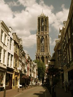 Domtoren (Dom Tower), Utrecht, the Netherlands. Being 112 m and 32 cm (369 ft) in height, the Dom Tower is the tallest church tower in the Netherlands. The highest viewpoint is at 95 m (312 ft). From this platform you have a magnificent panoramic view of the city of Utrecht and its surroundings. During the climb the guide will pause at various levels in the tower for a brief explanation of the tower's history.