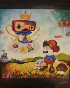 Finally finished painting Mr. Mario