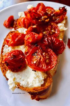 A delcious and easy roasted cherry tomato recipe perfect for using on pizza, pasta and sandwiches. Perfect for your summer tomato crop. Healthy Recipes, Vegetable Recipes, Vegetarian Recipes, Cooking Recipes, Cherry Tomato Recipes, Roasted Cherry Tomatoes, Marinated Tomatoes, Tomato Dishes, Healthy Food To Lose Weight