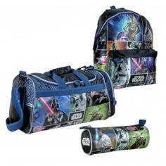 Pack Regalo de Star Wars compuesto por mochila grande, bolsa de deporte y portatodo cilíndrico por 53,50 euros. En www.tinoytina.com