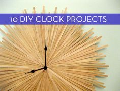 Time to DIY. 10 easy wall clock tutorials