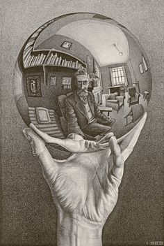 Hand with Reflecting Sphere, January 1935Lithograph, 318 x 213 mm (12 1/2 x 8 3/8'')