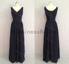 New arrival vneck chiffon prom dress with by HappinessBridal