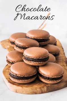 This Chocolate Bomb is a rich chocolate dessert. Made of chocolate mousse, dulce de leche, and chocolate cake. Topped with chocolate ganache. Macaroon Filling, Macaroon Cookies, Almond Cookies, Pavlova, French Macaroon Recipes, French Macaron, Chocolate Macaroons, Chocolate Macaron Recipe, Chocolate Filling