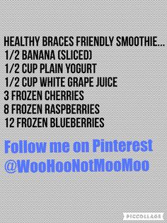 #smoothie for #braces in a #healthy #lifestyle this is my own personal #recipe for a #smoothie and it's delicious