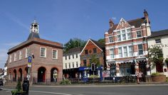 Reigate High Street in the Sun