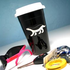 Honey Badger Travel Mug now in black | Bread and Badger