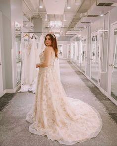 Noelle shares some of her favorite wedding dresses at David's Bridal! Second Wedding Dresses, Second Weddings, Glitter Bridesmaid Dresses, Bridal Dresses, Glamorous Wedding, Gold Wedding, Vera Wang Dress, Affordable Dresses, Gold Dress