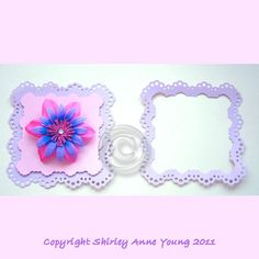 Shirleys Cards: May freebie - Fancy Punched Mat and Frame