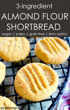 Almond Flour Shortbread Cookies (Keto Option, Vegan, Grain-Free, Paleo) – Foods and Drinks Almond Flour Cookies, Almond Flour Recipes, Keto Cookies, Cookies Et Biscuits, Almond Flour Desserts, Almond Flour Biscuits, Almond Shortbread Cookies, Gluten Free Almond Cookies, Almond Flour Brownies