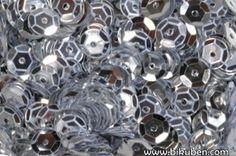 Bilde av produkt: Paljetter - Runde - Sølv 6mm