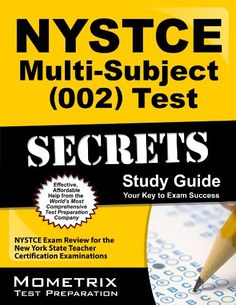 We just purchased NYSTCE Multi-Subject (002) Test Secrets Study Guide: NYSTCE Exam Review for the New York State Teacher Certification Examinations by NYSTCE Exam Secrets Test Prep Team