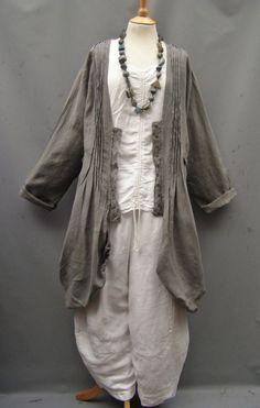 SALE ~~~~~Completo Lino ~Taupe ~ linen frock style jacket/dress – 16-24 #CompletoLinoArthurioEuropeanLagenlook #OtherJackets #Casual