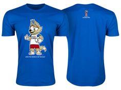 Russia Royal Men 2018 FIFA World Cup Zabivaka Mascot T-Shirt Football  Outfits b2aecf394
