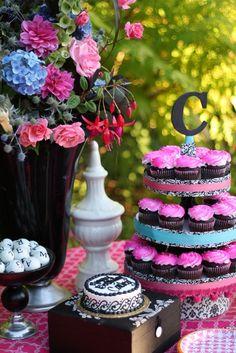 Esos cupcakes sin las flores no serían lo mismo!