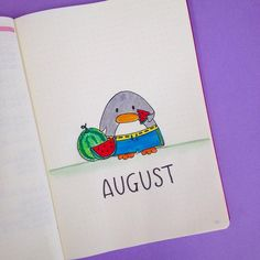 """519 Likes, 6 Comments - Planner Inspiration (@christina77star) on Instagram: """"August is almost here and me and Mr. Penguin are going to be eating lots of fruit because we're…"""""""