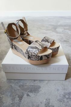 Snake Print Wood Platforms | Buttons  Bows LA
