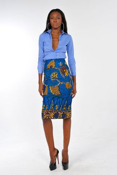 african print pencil skirt - Etsy