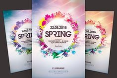 Spring Flyer by styleWish on @creativemarket