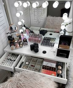 Ikea Alex Drawers, Hollywood Mirror, Vanity Room, Pretty Room, Drawer Unit, Room Goals, Decorative Storage, Beauty Room, Shopping