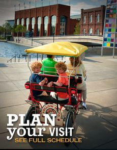 The canal in downtown Indianapolis is a great place to take a stroll, pedal a bike, paddle a boat, or  ride a Segway!