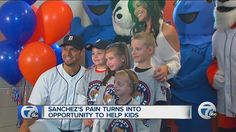 Tragedy, tough times help Tigers pitcher Anibal Sanchez and wife Ana create 'Little Smiles' for kids - WXYZ.com