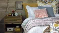 Country Bedroom with Autumnal Coloured Fabrics