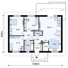 Z69 Проект частного дома квадратной формы S3-102