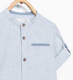 マオカラーシャツ-コレクション-ベビーボーイ (3ヶ月 - 3歳)-キッズ-SALE | ZARA 日本