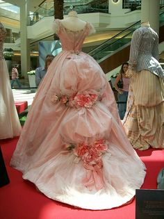 (Back) Emmy Rossum, Phantom of the Opera    Back detail of Emmy Rossum's gown. c.1870s