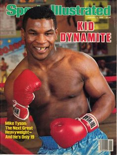Mike Tyson - cover of Sports Illustrated January 1986 Mma, Mike Tyson Boxing, Boxing Images, Si Cover, But Football, Sports Illustrated Covers, Boxing History, Boxing Champions, Sports Magazine
