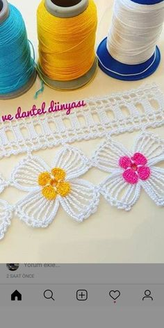Needle Lace, Moda Emo, Crochet Lace, Diy And Crafts, Crochet Patterns, Knitting, Hats, Decorative Towels, Cut And Color
