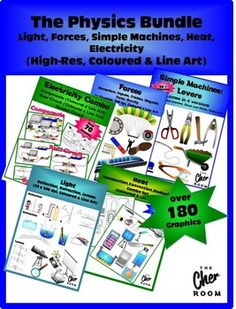 You'll find 5 sets of Physics Clipart on the following topics. You can click on the links to find out more about the sets. Its more than 180 graphics at more than 20% off!Lighthttps://www.teacherspayteachers.com/Product/Light-Clipart-Reflection-Refraction-Lenses-1837922Simple…