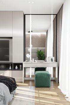 Dressing Table Design, Walk In Closet, Home Decor Bedroom, Interior Decorating, House Design, Mirror, Furniture, Modern Luxury Bedroom, Quartos