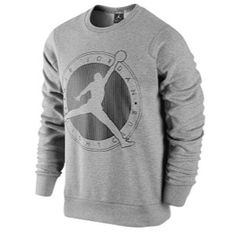 a99d6e11dde Get that vintage basketball swag with this Men s Jordan Flight Club Graphic  Crew Sweatshirt. Constructed with a brushed interior and rib crew neck with  ...