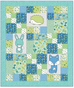 We have assembled 100 free patterns for baby and toddler quilts! Here is Part 2 of our series (also see Part 1 and Part 3 ).(HT LT) Z like layout - Babe in the Woods - Quilt Inspiration: Free pattern day: Baby quilts!Babe in the Woods Blue Flannel Qu Baby Quilts Easy, Baby Patchwork Quilt, Baby Girl Quilts, Modern Baby Quilts, Baby Quilt For Girls, Quilts For Babies, Baby Quilts To Make, Quilted Baby Blanket, Colchas Quilting