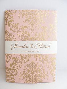 LavenderPaperie1: Wedding Invitations - Pink Sarahie-10