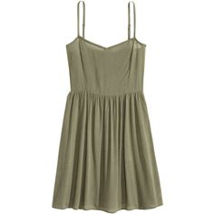 Short Dress $17.99 (£13) ❤ liked on Polyvore featuring dresses, d r e s s e s, smocked dresses, rayon dress, woven dress, viscose dress and short green dress