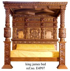 The Baronial Tudor four poster bed